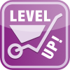 LevelUp logo paars